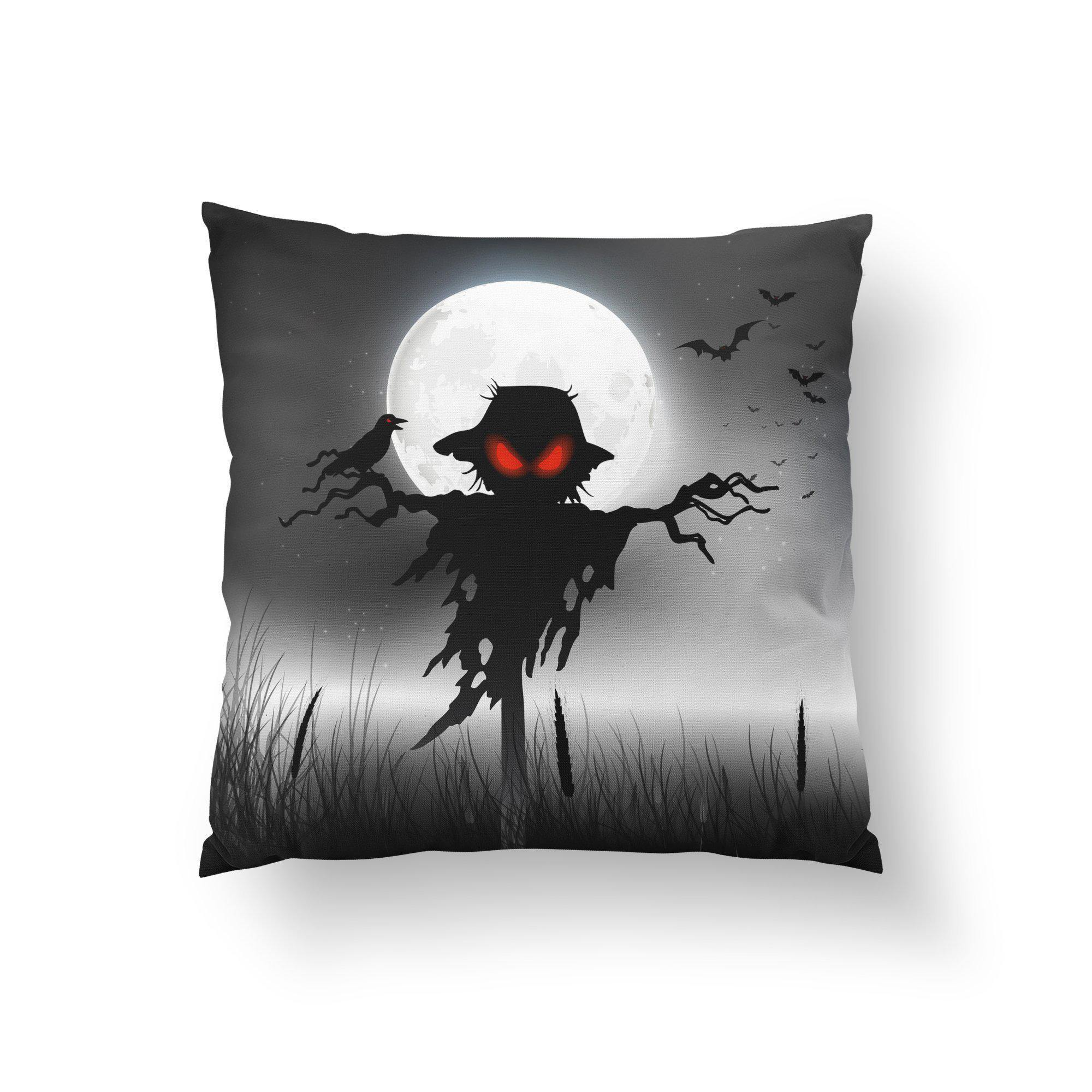 Scarecrow Halloween Throw Pillow-W.FRANCIS