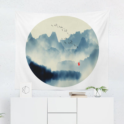 Scenic Japanese Wall Tapestry-W.FRANCIS