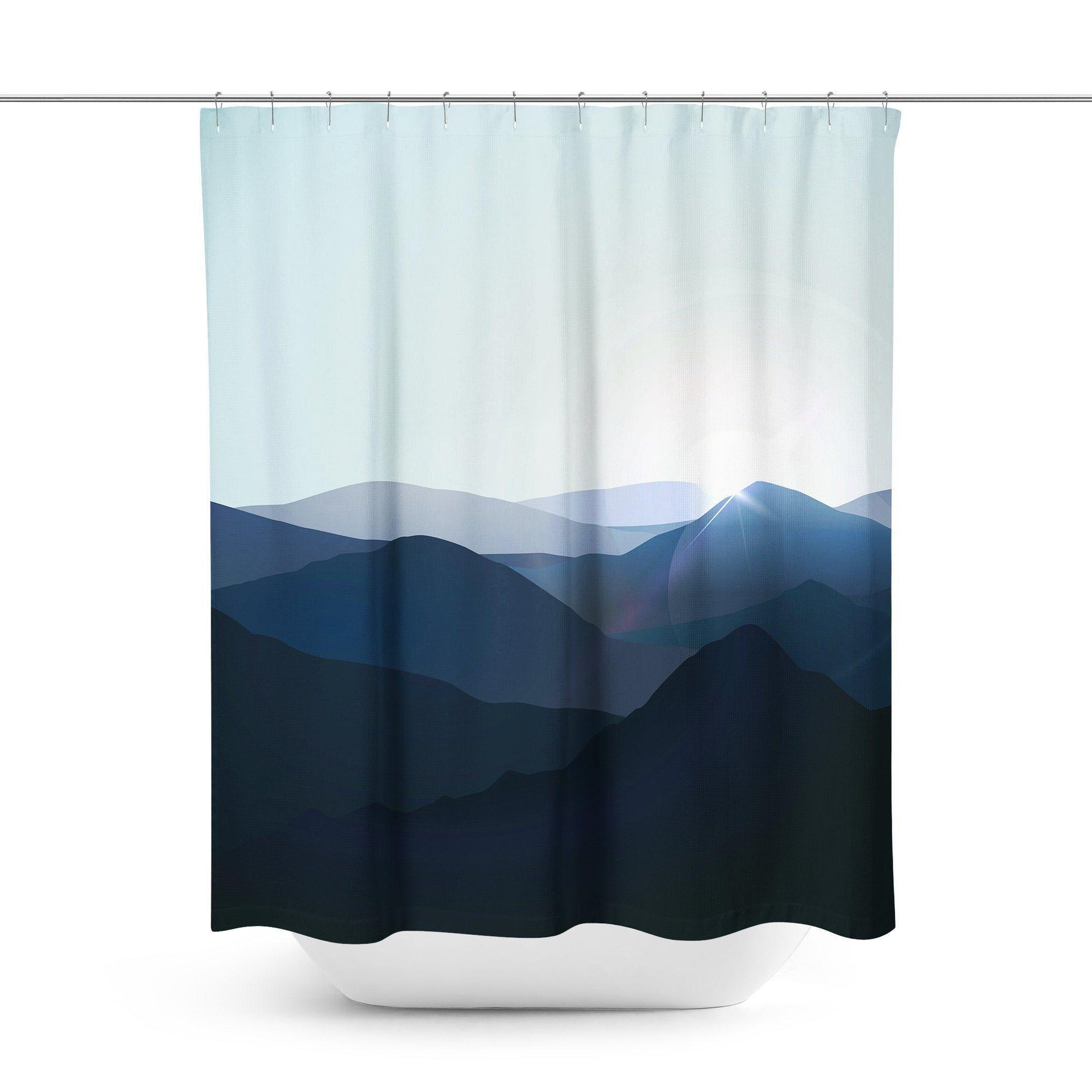 Scenic Mountain Shower Curtain-W.FRANCIS