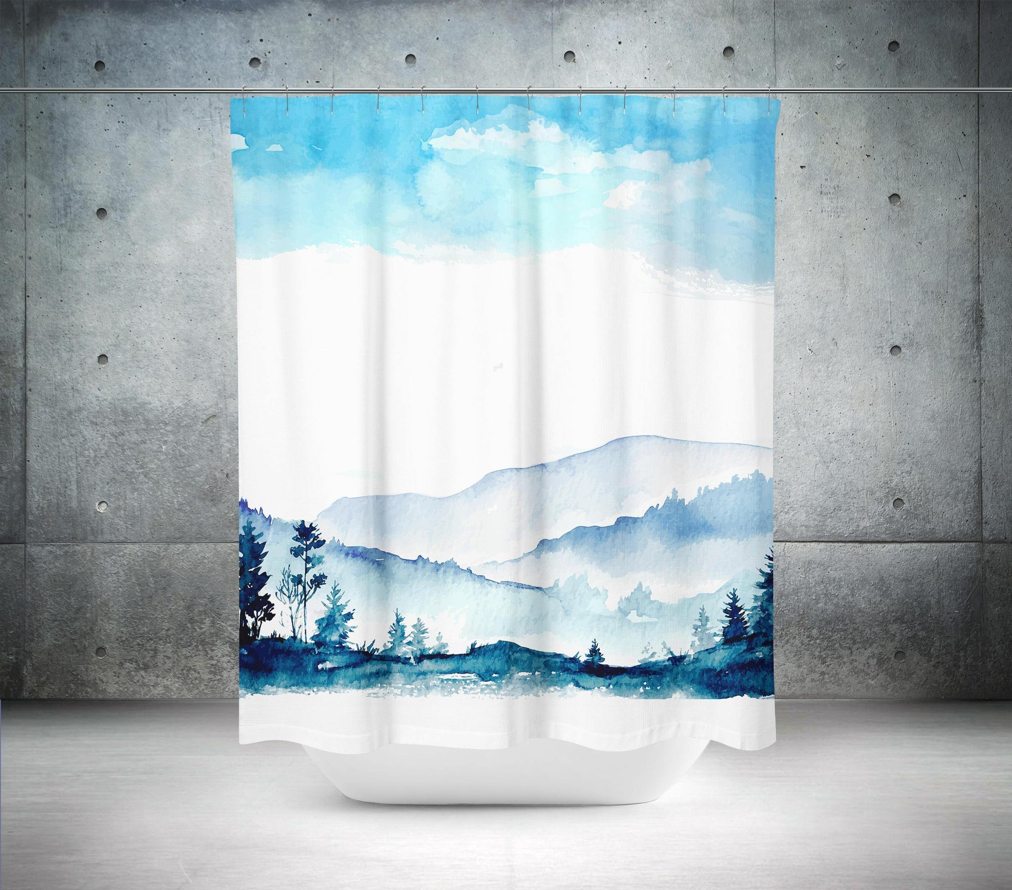Scenic Shower Curtain-W.FRANCIS