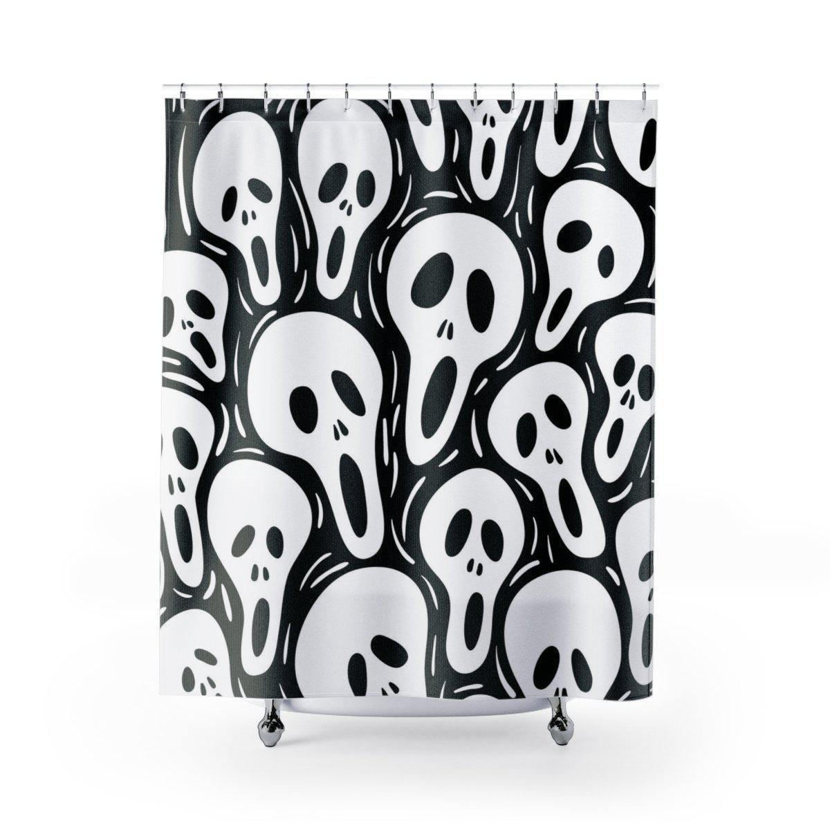 Screaming Face Shower Curtain-W.FRANCIS