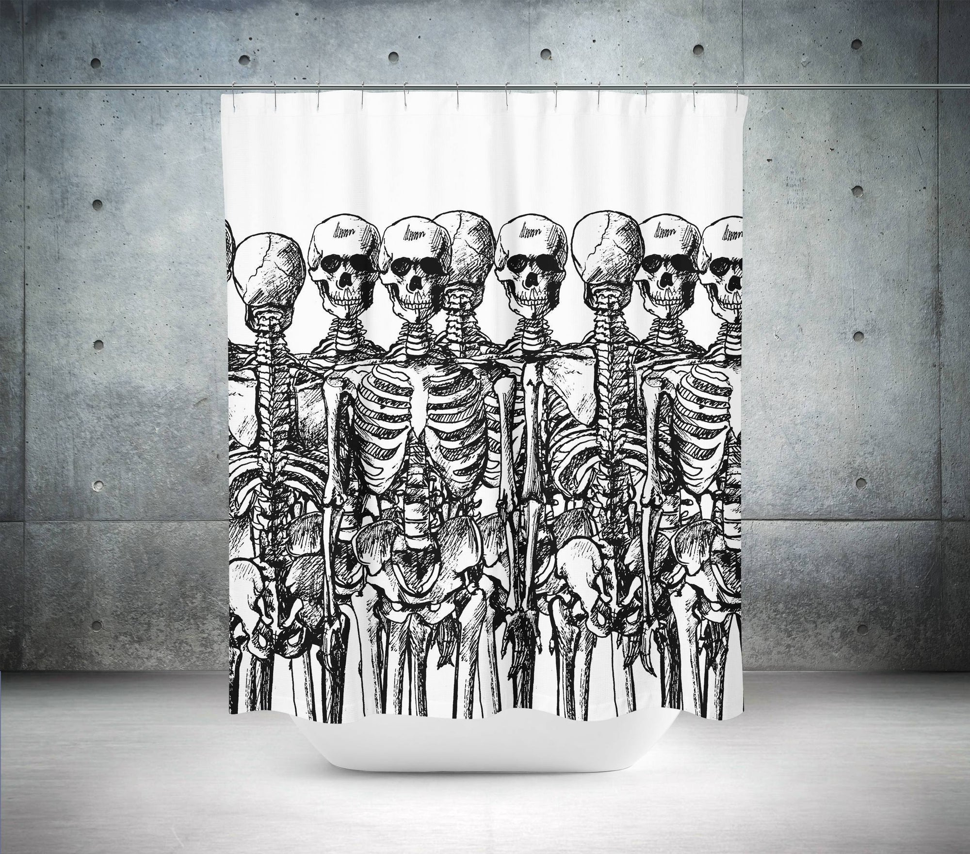 Skeleton Shower Curtain-W.FRANCIS