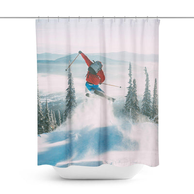 Skiing Shower Curtain-W.FRANCIS