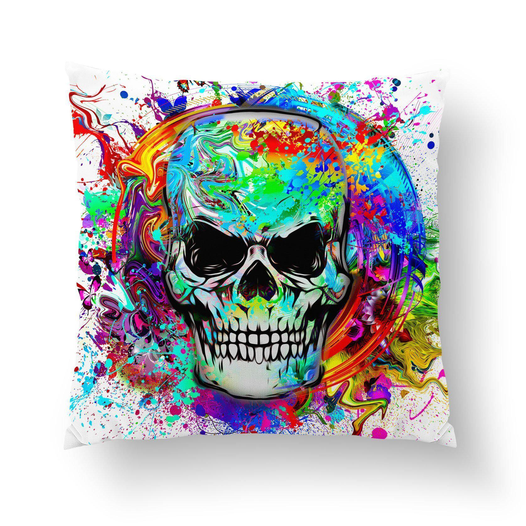 Skull Pillow Cover-W.FRANCIS