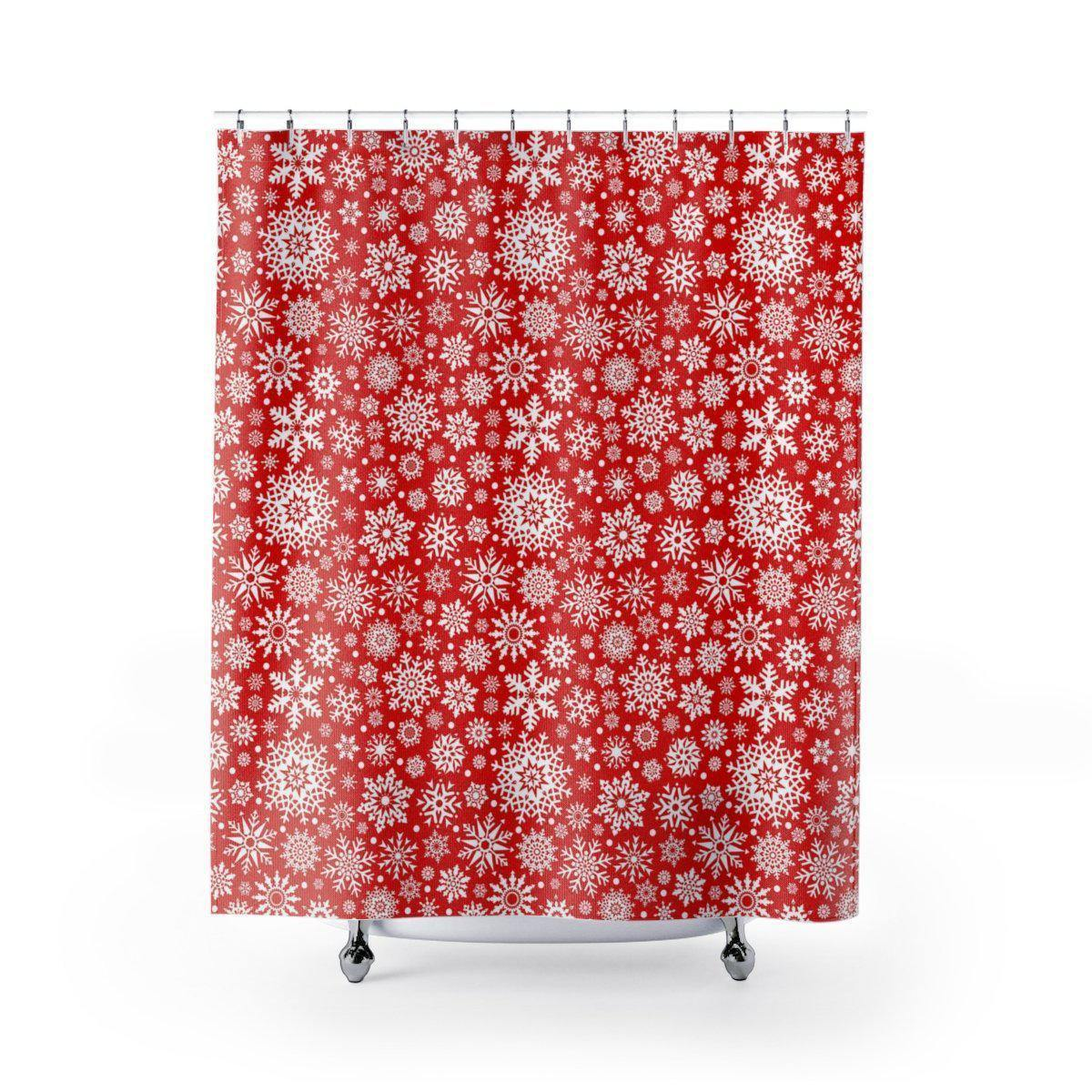 Snowflake Christmas Shower Curtain-W.FRANCIS