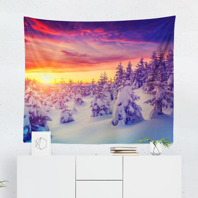 Snowy Landscape Tapestry-W.FRANCIS