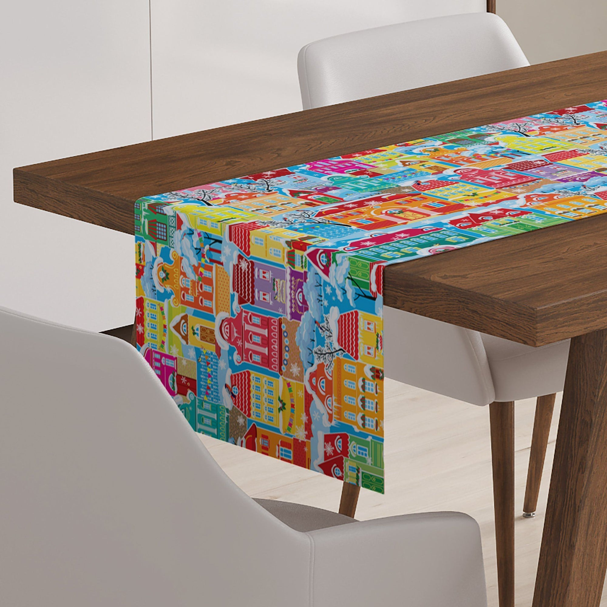 Snowy Village Table Runner - Table Runners - W.FRANCIS