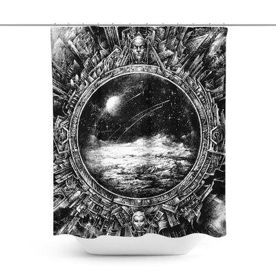 Space Mirror Shower Curtain-W.FRANCIS