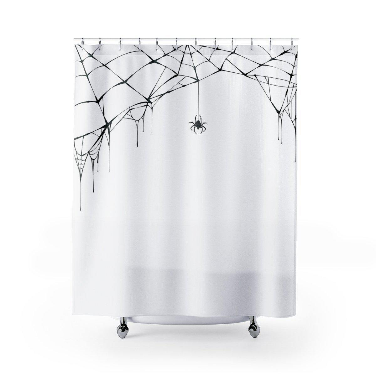 Spiderweb Halloween Shower Curtain-W.FRANCIS