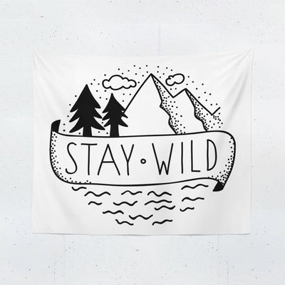 Stay Wild Wall Tapestry-W.FRANCIS