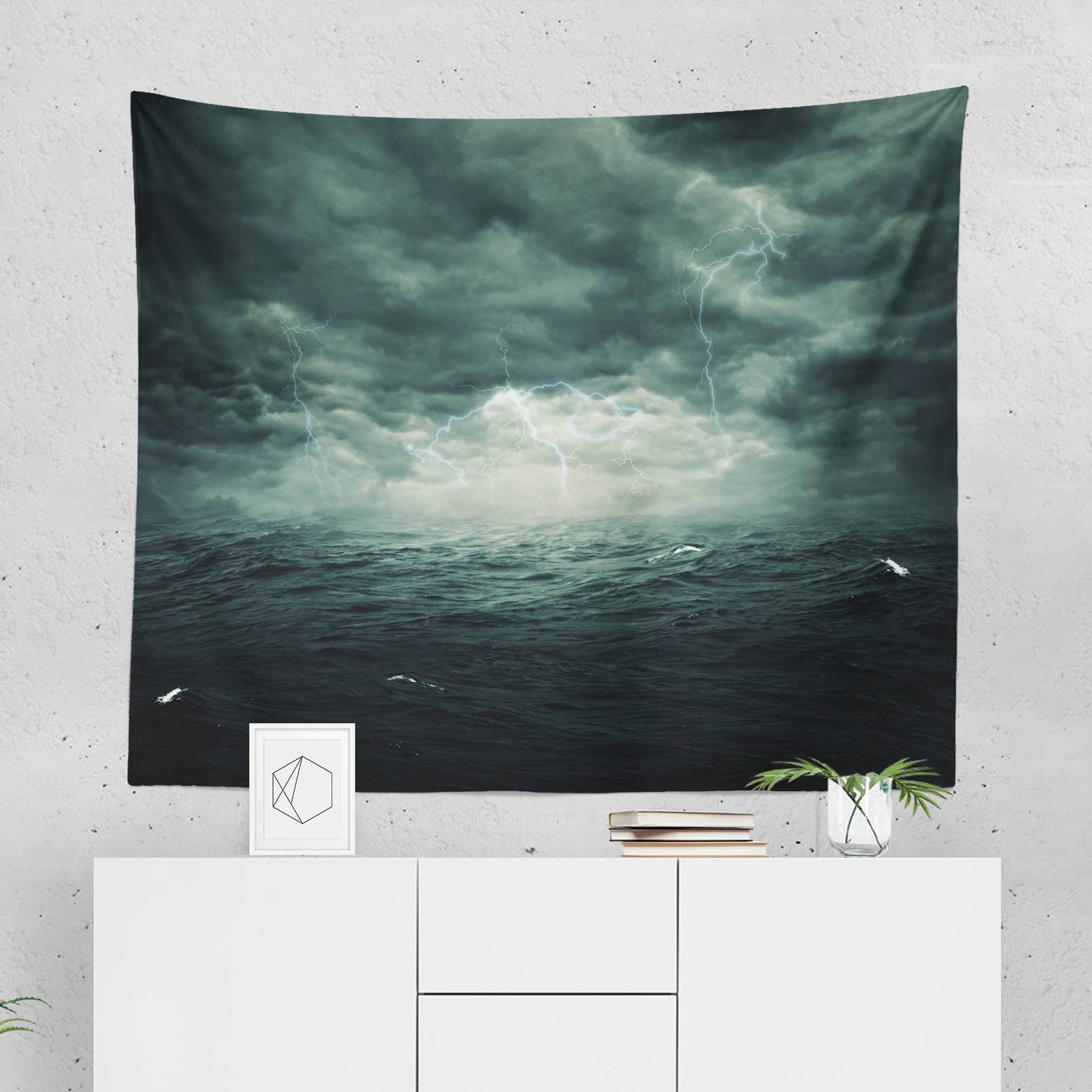 Storm Wall Tapestry-W.FRANCIS