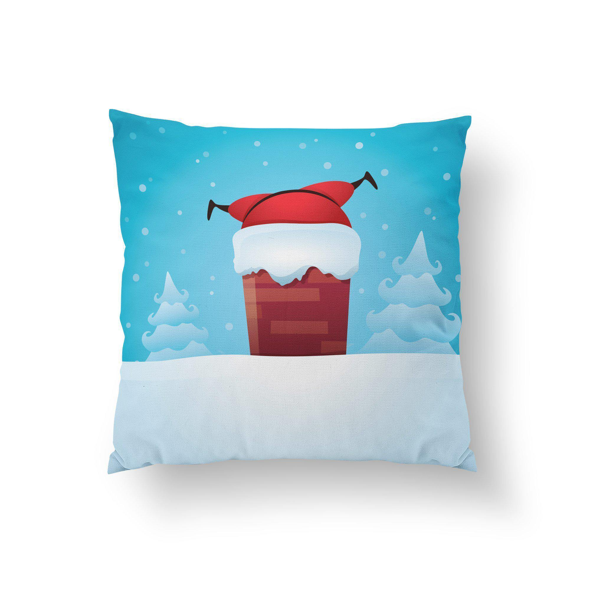 Stuck Santa Christmas Pillow Cover - Pillow Covers - W.FRANCIS
