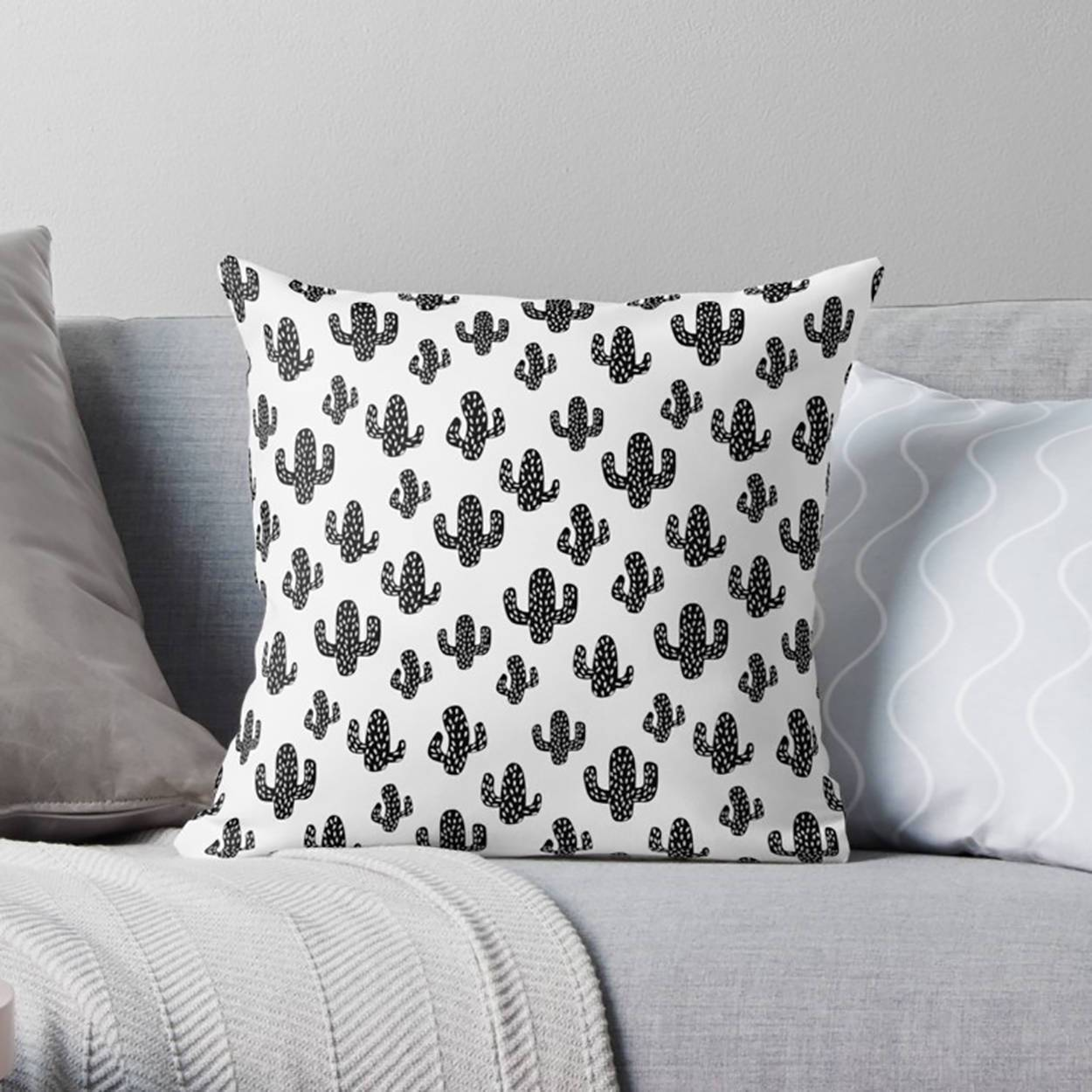 Succulent Throw Pillow-W.FRANCIS