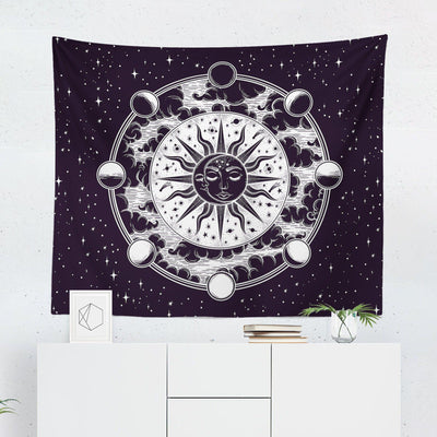 Sun & Moon Phases Tapestry - Tapestries - W.FRANCIS