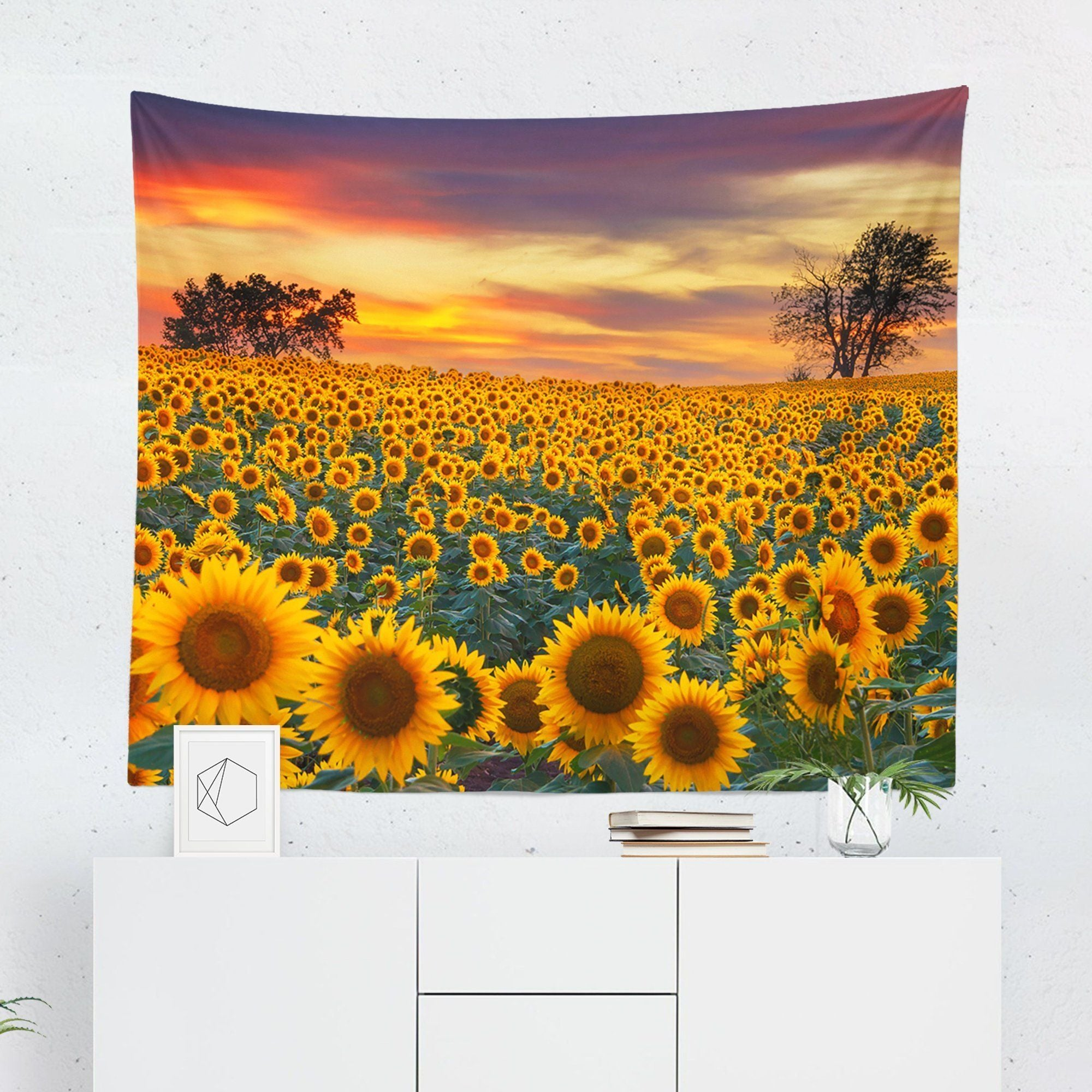 Sunflower Field Tapestry-W.FRANCIS