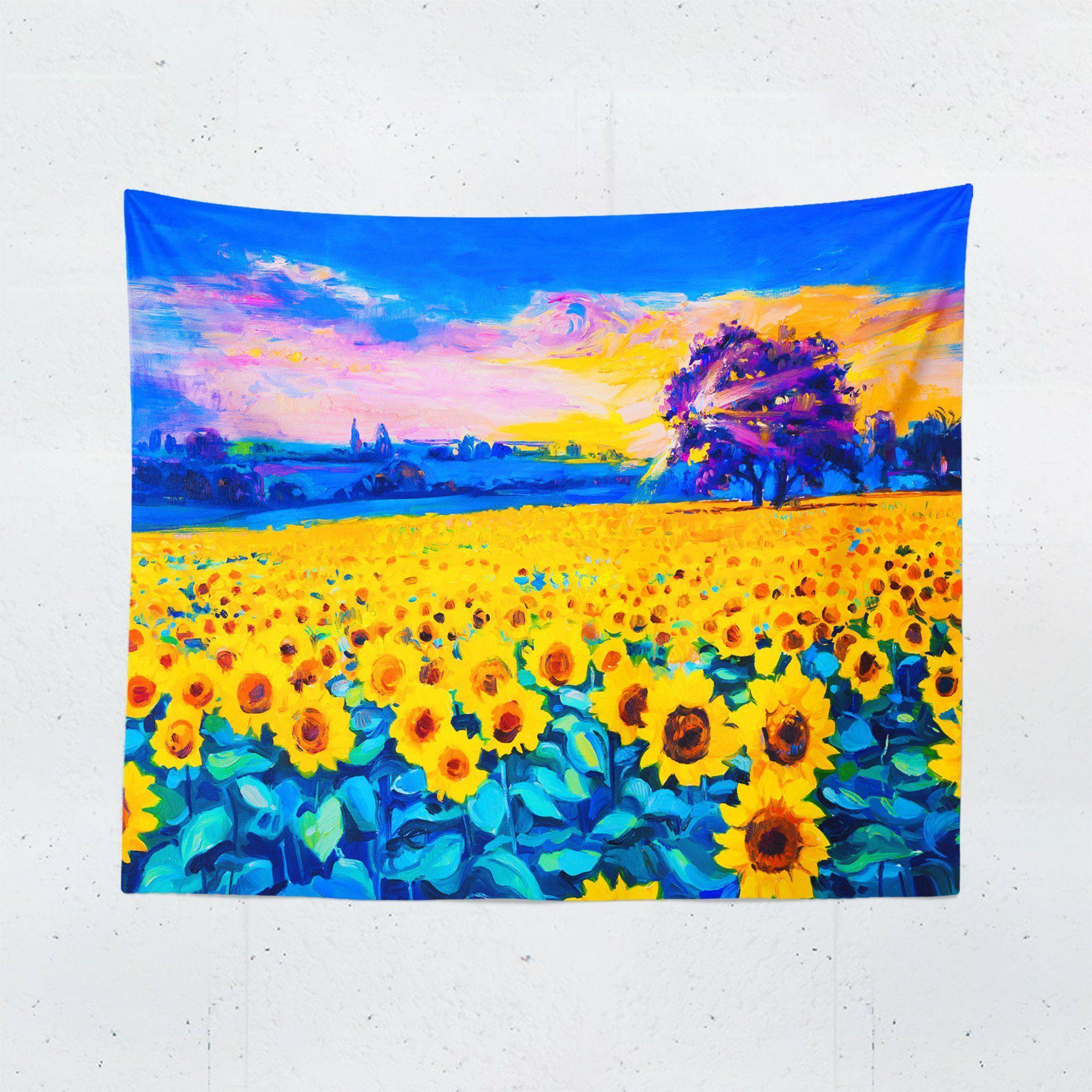 Sunflower Field Wall Tapestry-W.FRANCIS