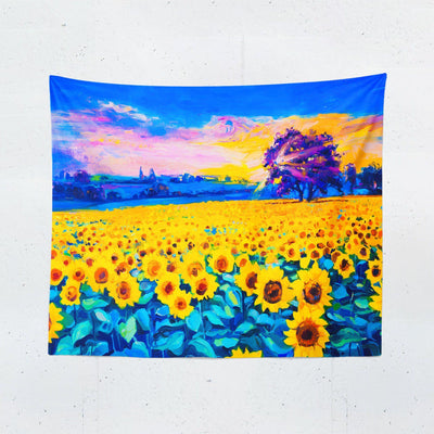 Sunflower Field Wall Tapestry - Tapestries - W.FRANCIS
