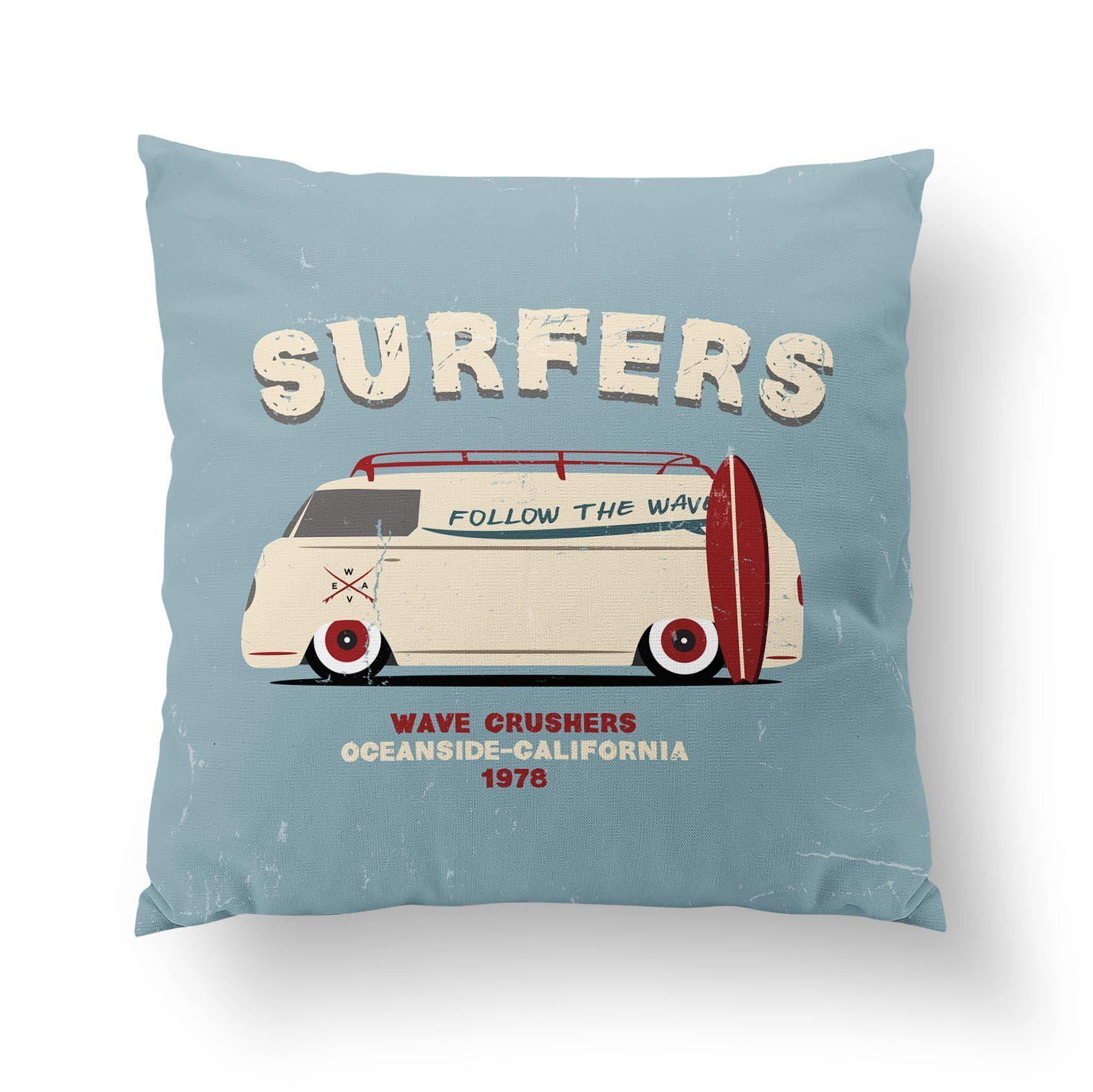 Surf Throw Pillow-W.FRANCIS