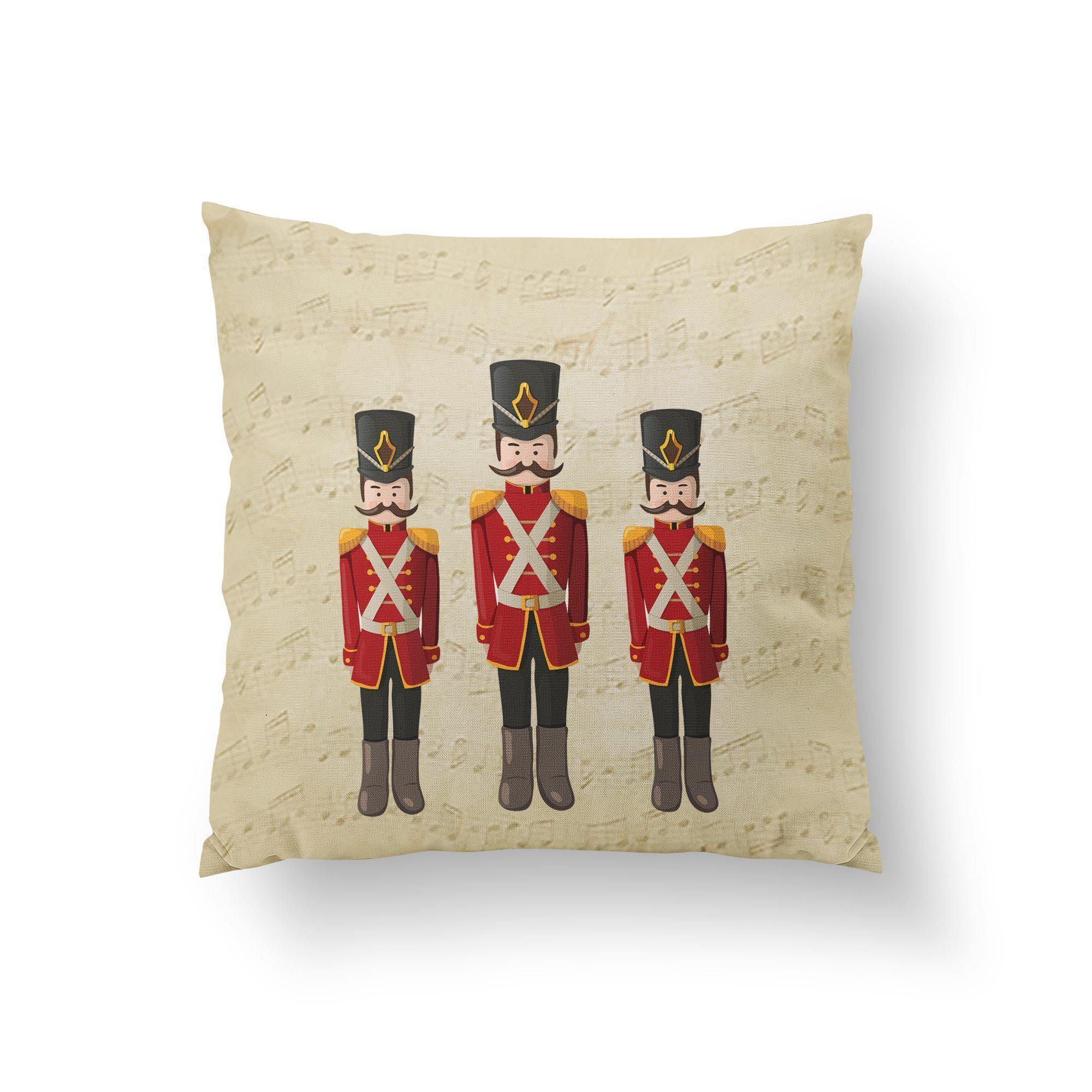 Toy Soldier Christmas Throw Pillow-W.FRANCIS
