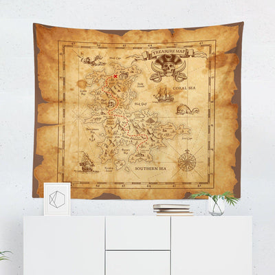 Treasure Map Tapestry-W.FRANCIS