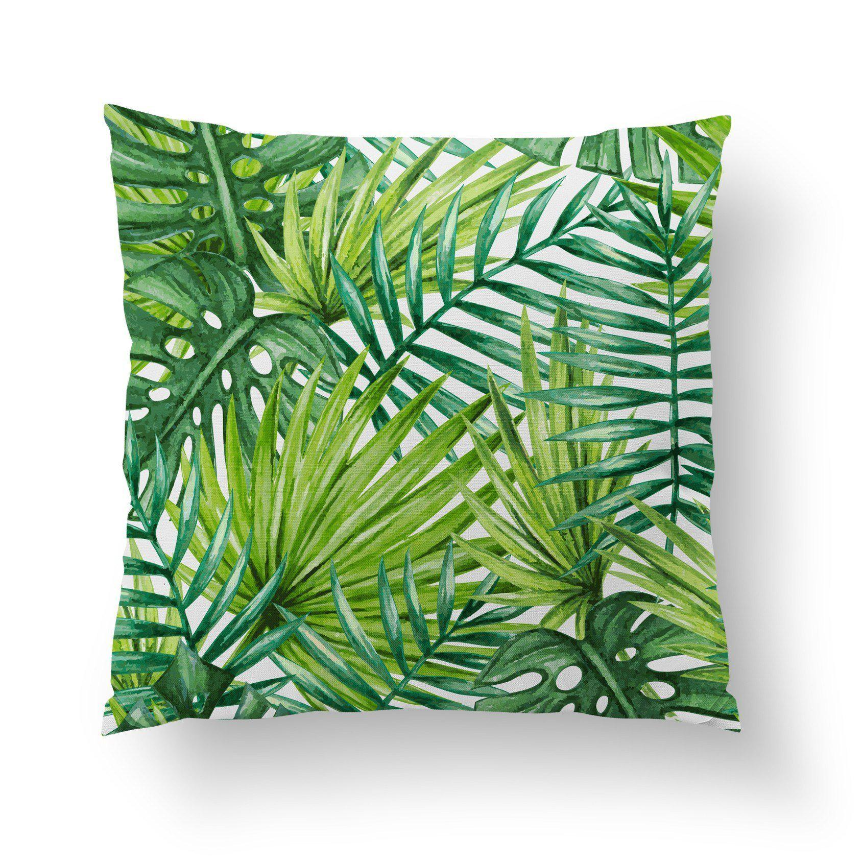 Tropical Palm Pillow-W.FRANCIS