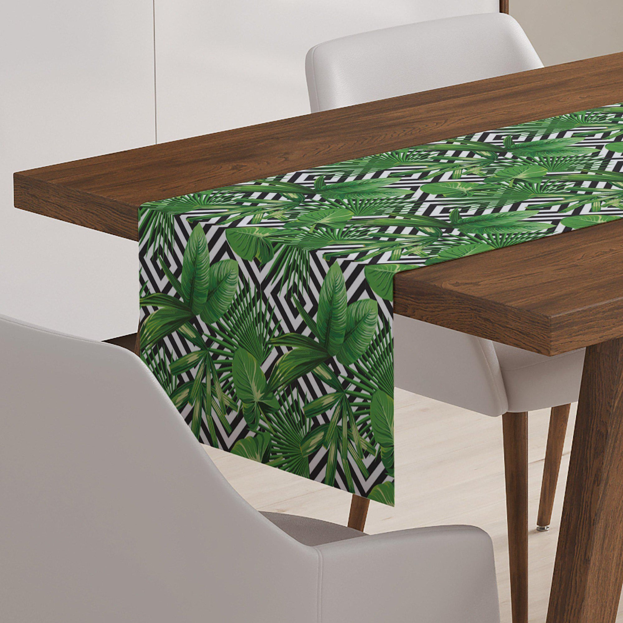 Tropical Palm Table Runner-W.FRANCIS