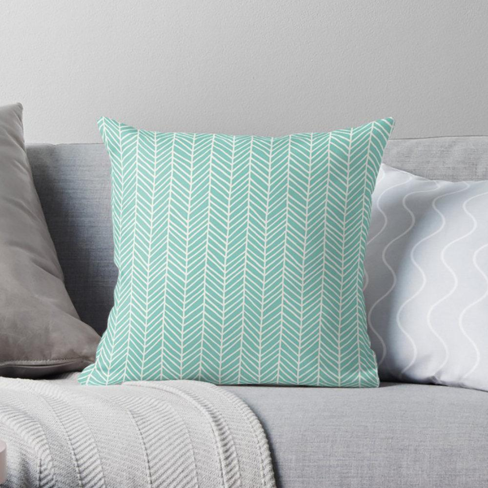 Turquoise Pillow-W.FRANCIS
