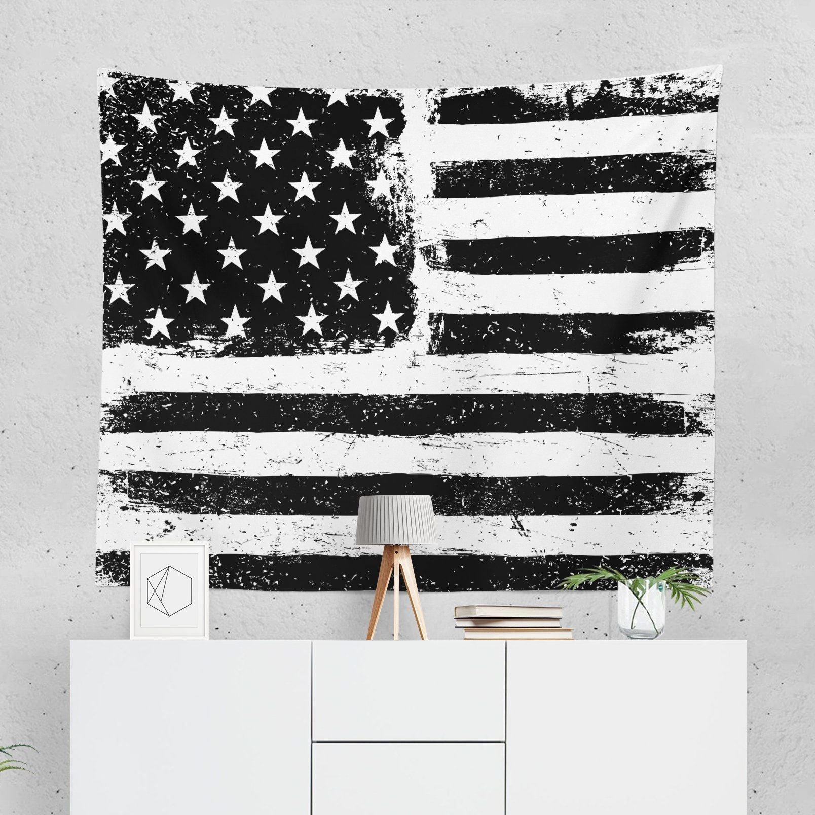 USA Flag Wall Tapestry-W.FRANCIS