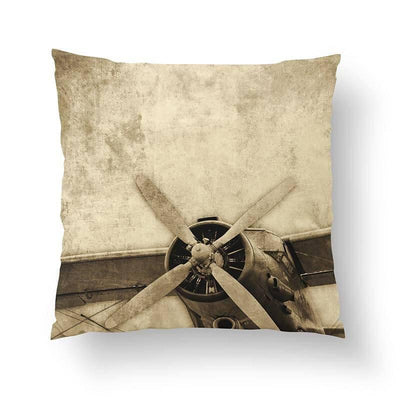 Vintage Airplane Pillow-W.FRANCIS