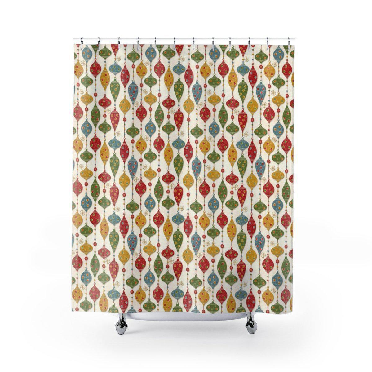 Vintage Christmas Shower Curtain-W.FRANCIS