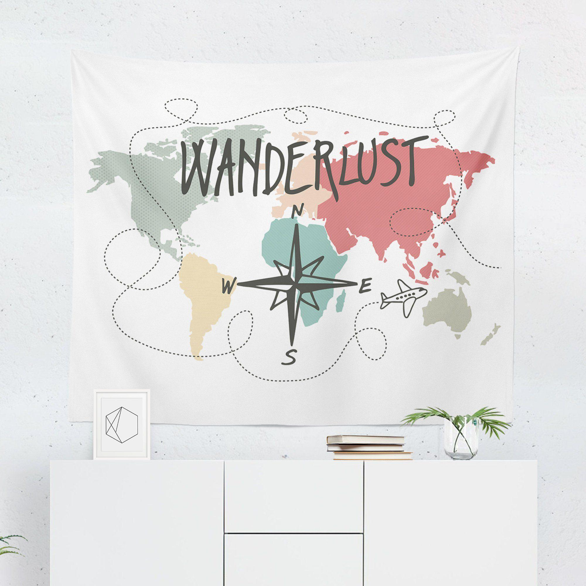 Wanderlust Travel Tapestry-W.FRANCIS