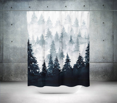 Watercolor Forest Shower Curtain-W.FRANCIS