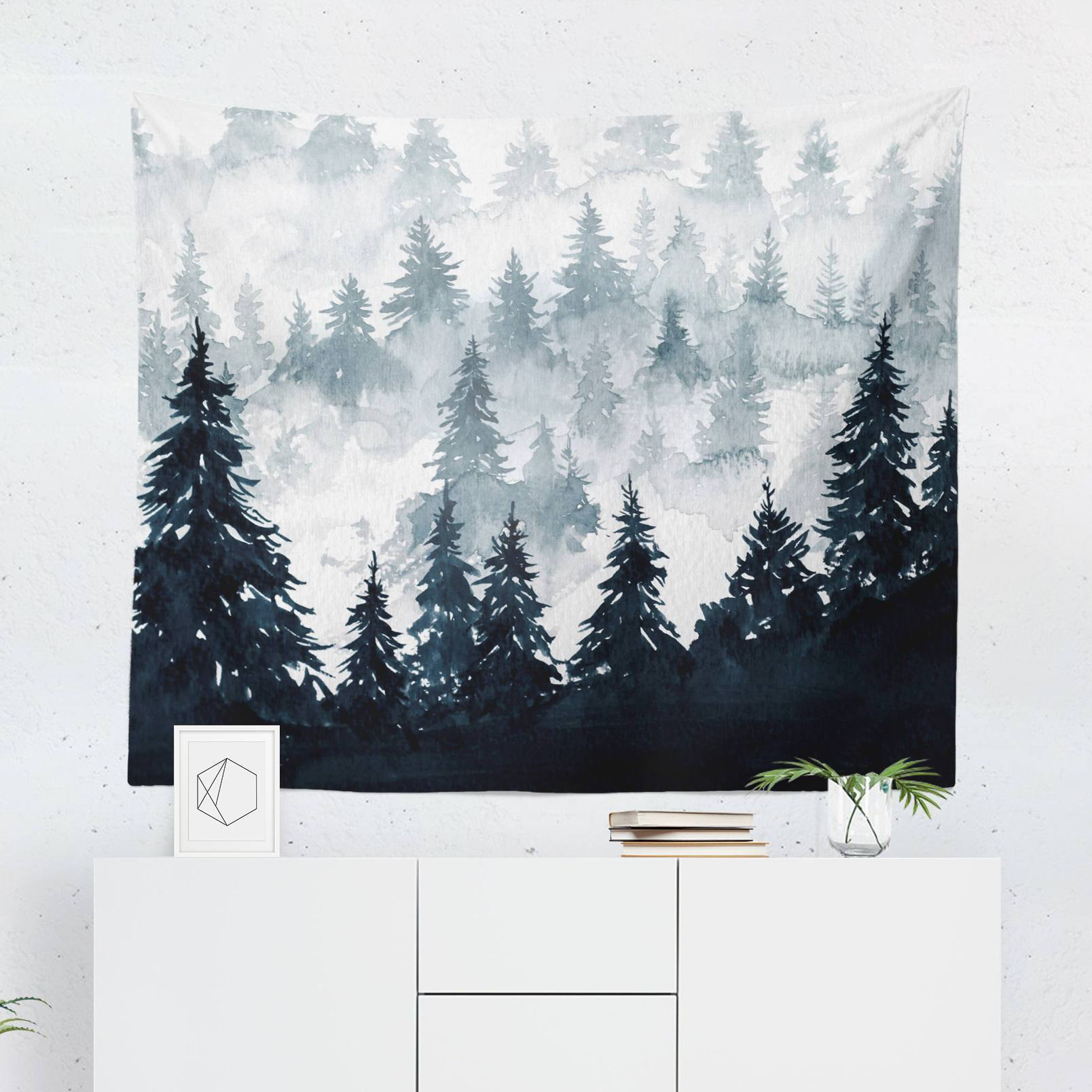 Watercolor Forest Tapestry - Tapestries - W.FRANCIS