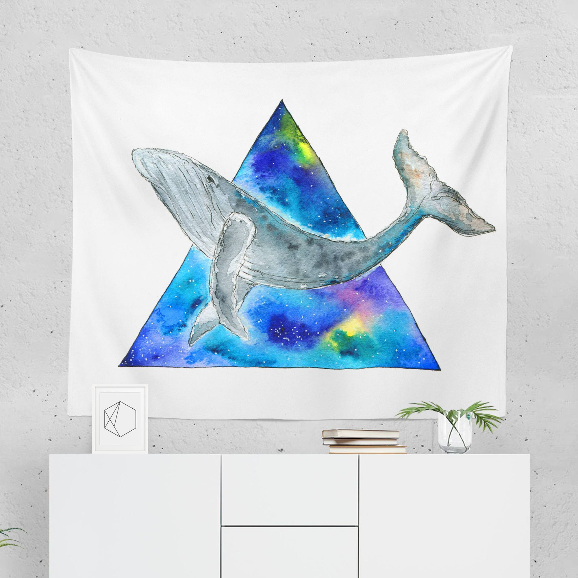 Whale Tapestry - Watercolor-W.FRANCIS