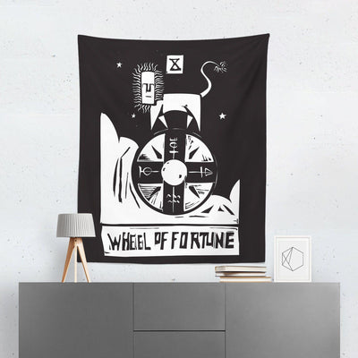 Wheel of Fortune Tarot Card Tapestry-W.FRANCIS