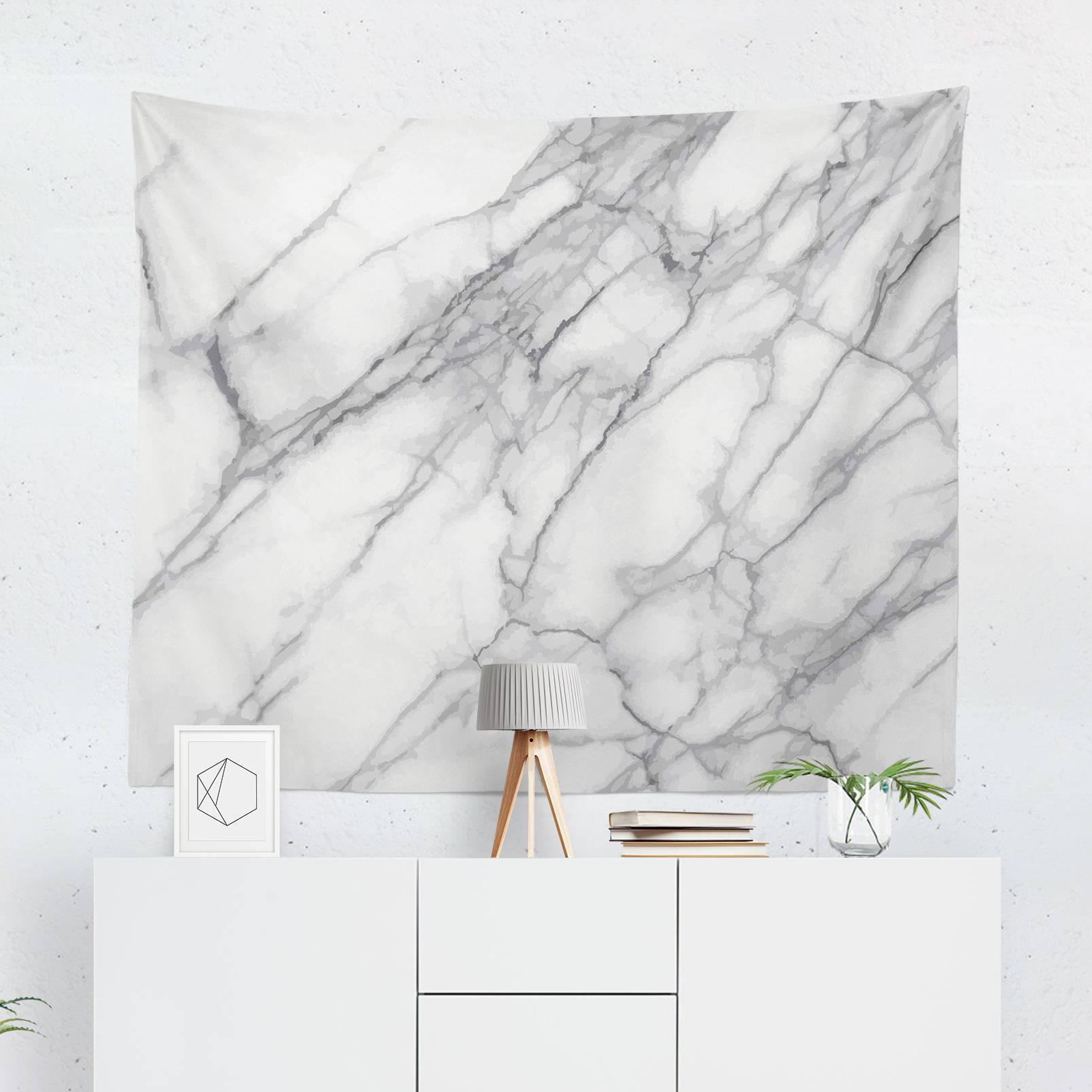 White & Grey Marble Tapestry-W.FRANCIS