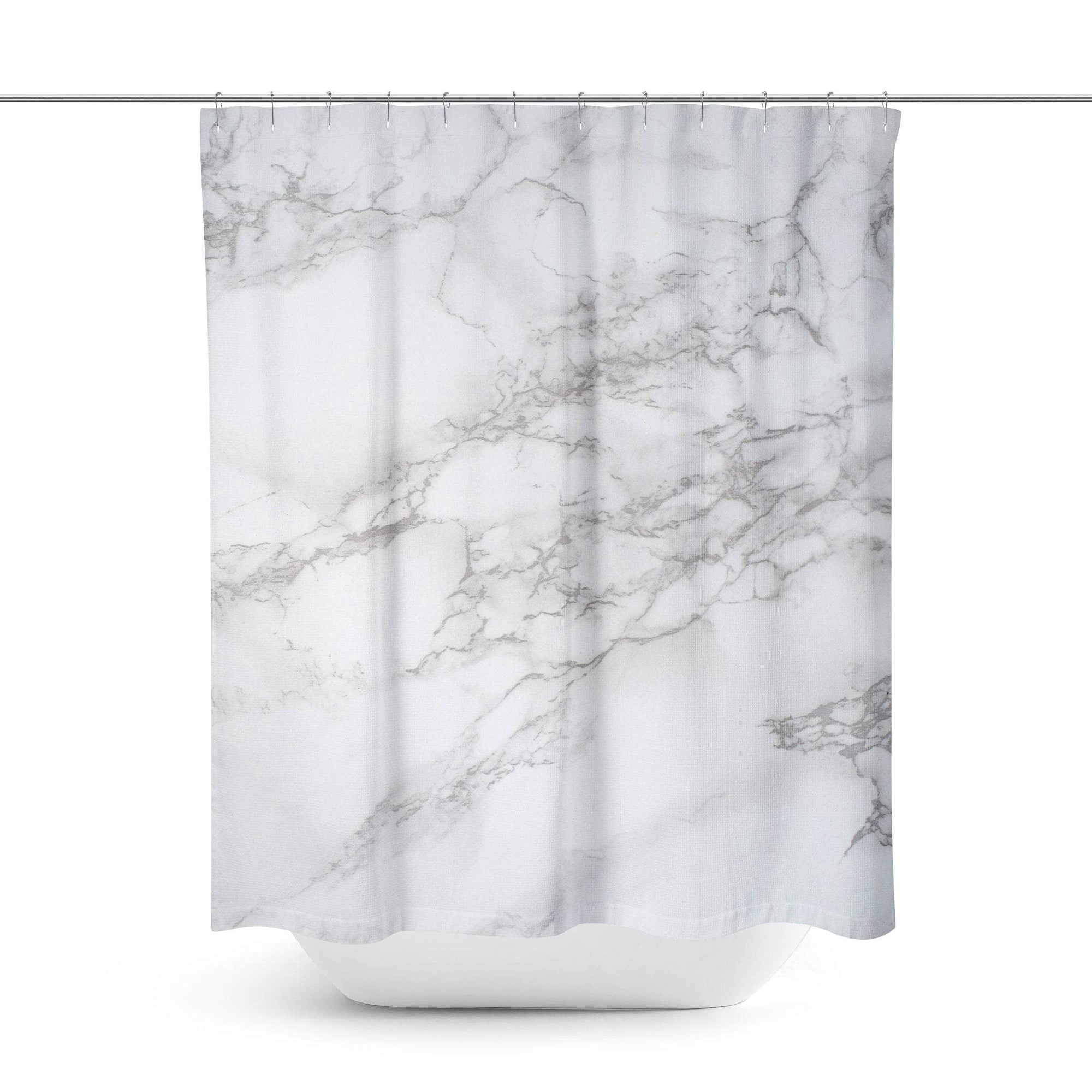 White Marble Shower Curtain - Shower Curtains - W.FRANCIS
