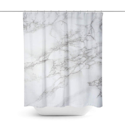 White Marble Shower Curtain-W.FRANCIS