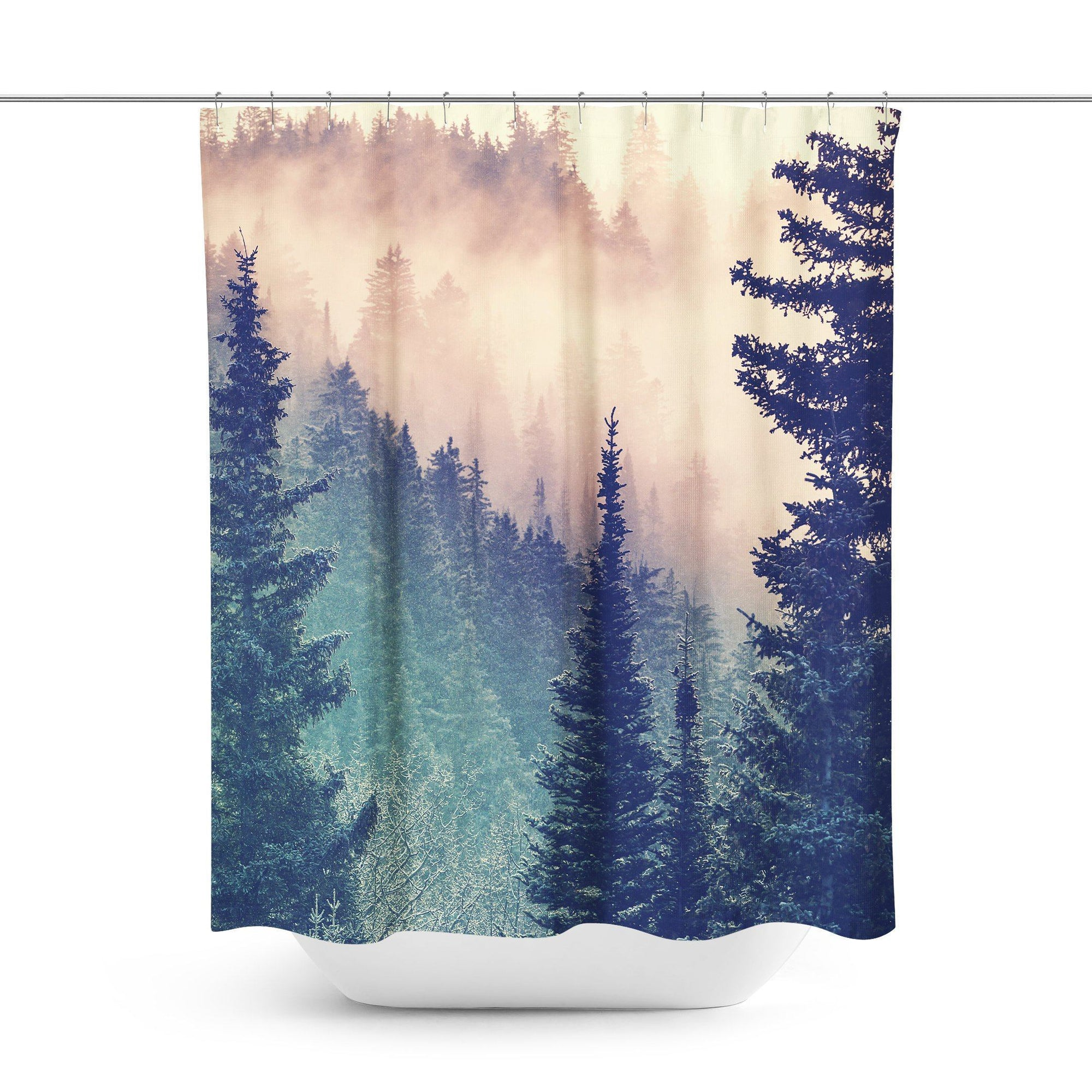 Wilderness Forest Shower Curtain-W.FRANCIS