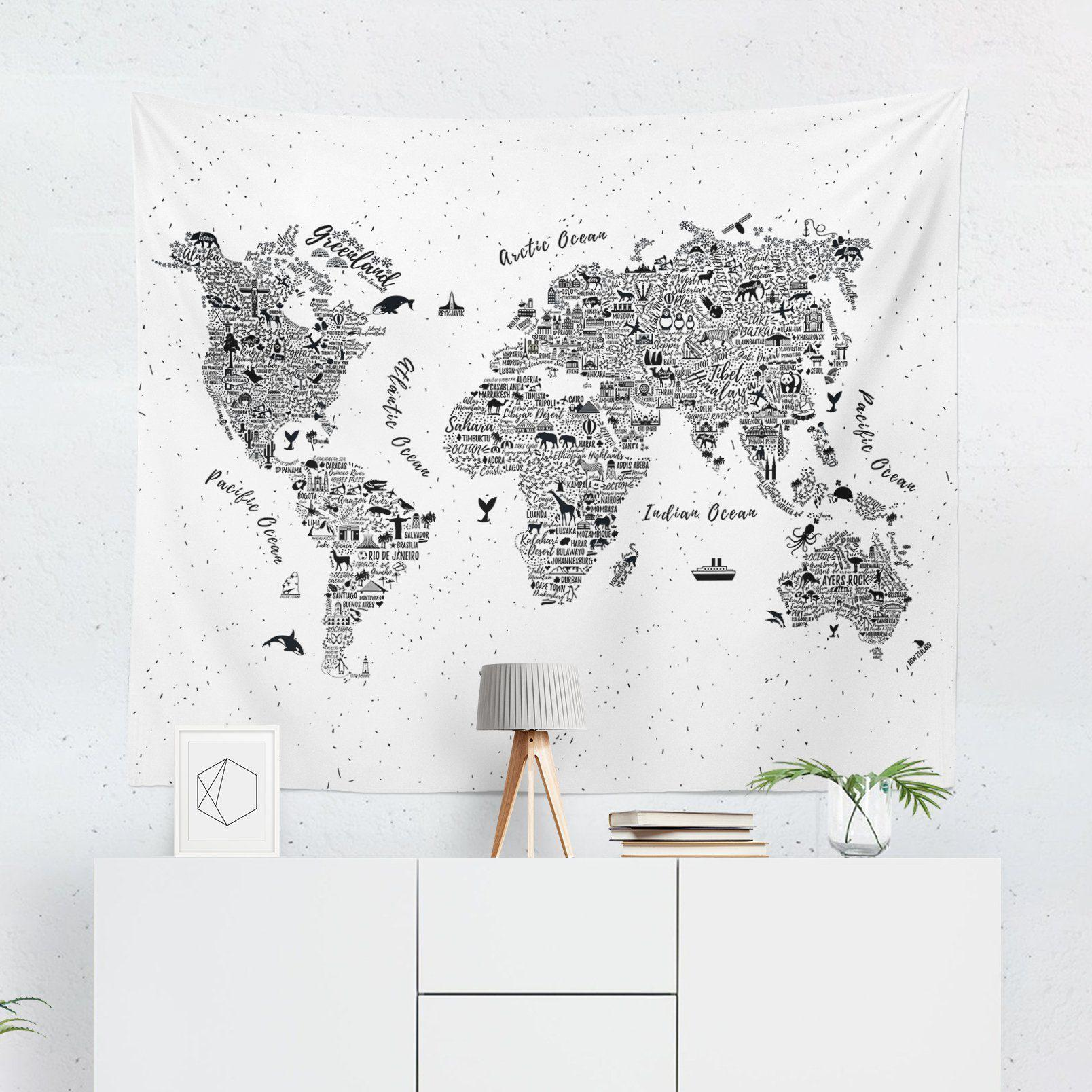 World Map Tapestry-W.FRANCIS