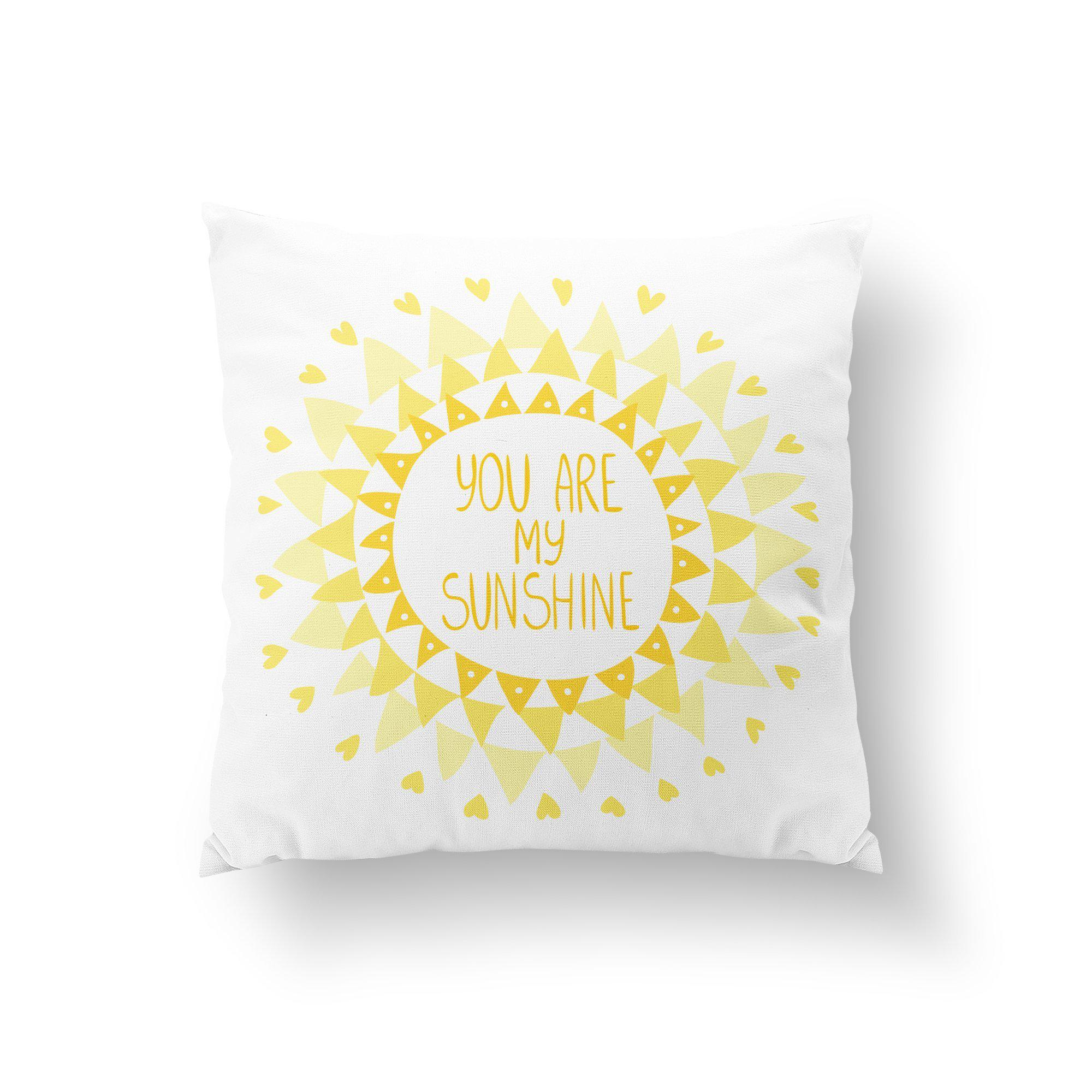 Your Are My Sunshine Throw Pillow-W.FRANCIS