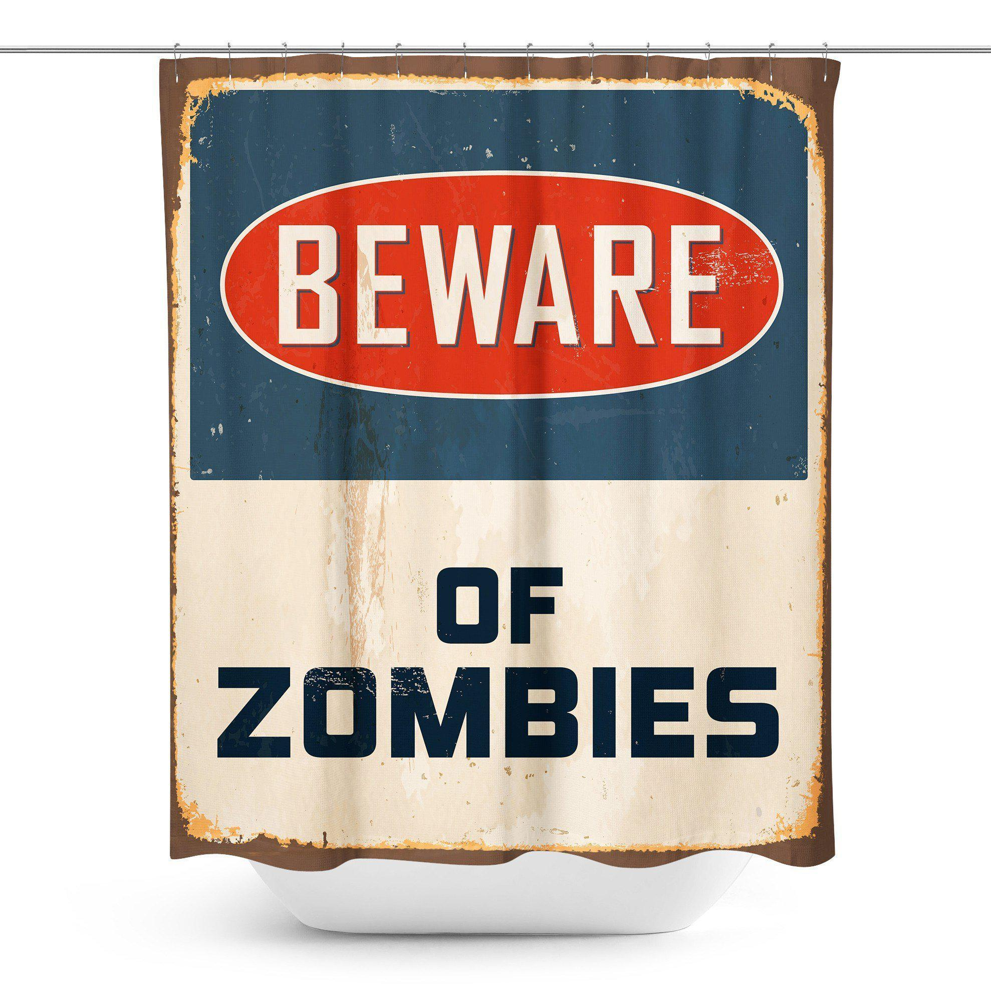 Zombie Halloween Shower Curtain-W.FRANCIS