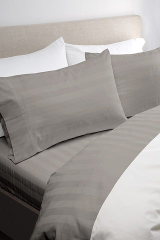1200TC Egyptian cotton Sheet Set Warm Grey - SIngle - Brands Now