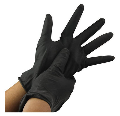 Vinyl Powder Free Gloves Small Black 100pk