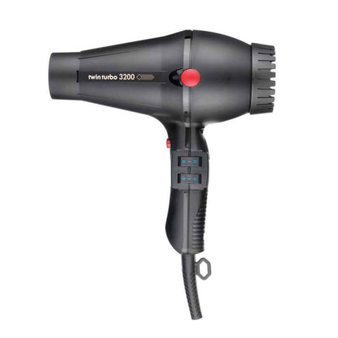 Twin Turbo 3200 Hair Dryer Ceramic & Ionic Black - Brands Now