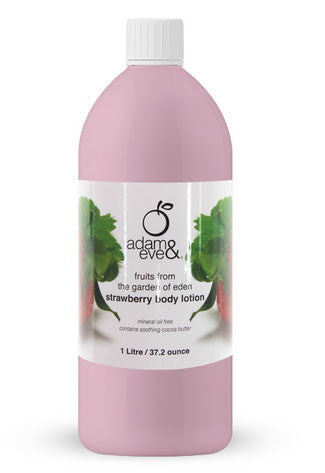 Adam & Eve Strawberry Body Lotion 1Ltr