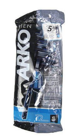 Arko Mens Shaving Razors 5 Piece