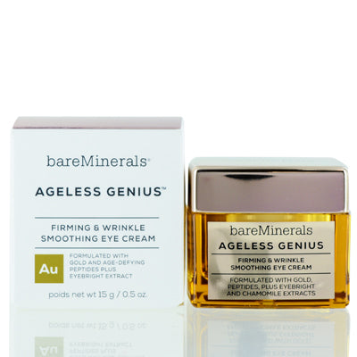 BAREMINERALS AGELESS GENIUS FIRMING&WRINKLE SMOOTHING EYE CREAM 0.5 OZ (15 ML)