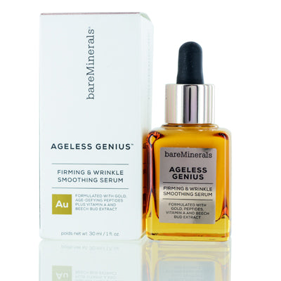 BAREMINERALS AGELESS GENIUS FIRMING & WRINKLE SMOOTHING SERUM 1.0 OZ (30 ML)
