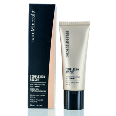 BAREMINERALS COMPLEXION RESCUE TINTED HYDRATING CREAM GEL (4) SUEDE 1.18 OZ